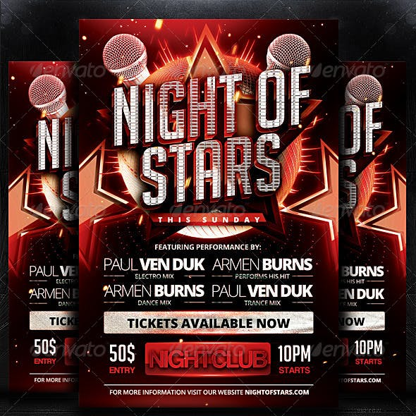 Night of Stars Flyer