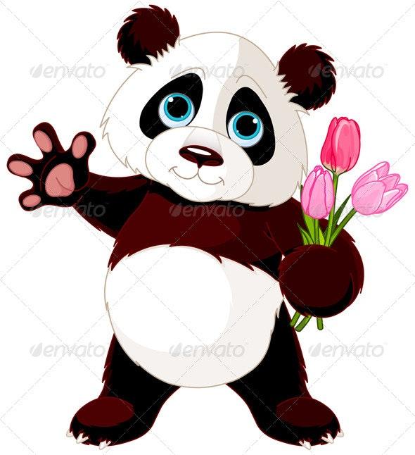 Happy Panda - Animals Characters