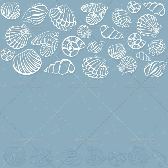 Seashell Card - Miscellaneous Vectors