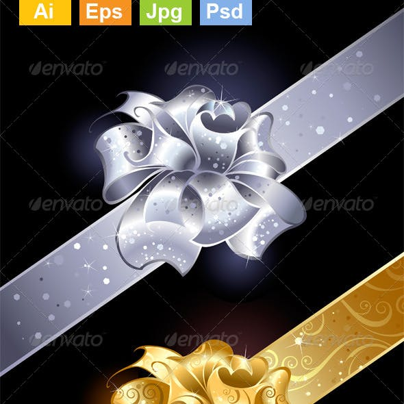 Gold and Silver Bows