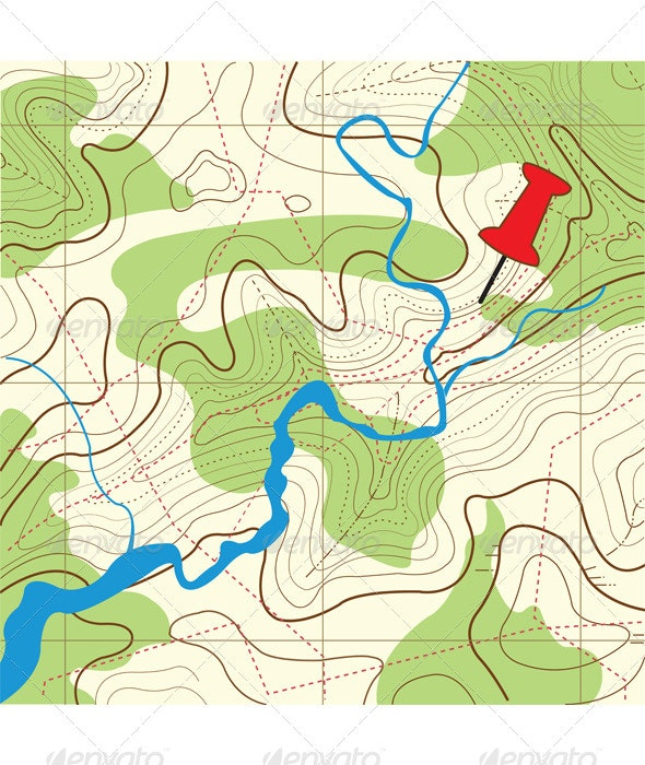 Abstract Map Illustration - Travel Conceptual
