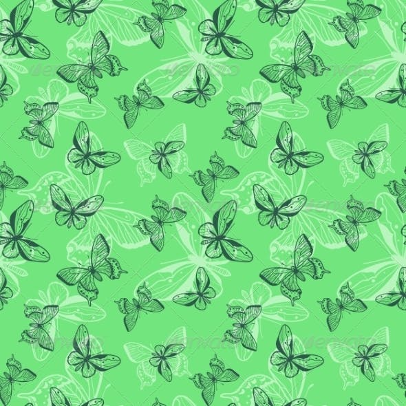 Butterflies Seamless Pattern.