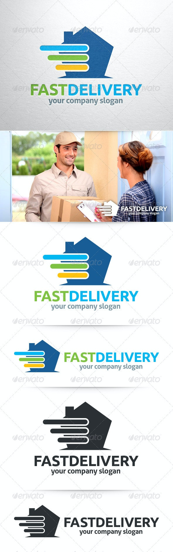 Fast Delivery Logo Template - Buildings Logo Templates