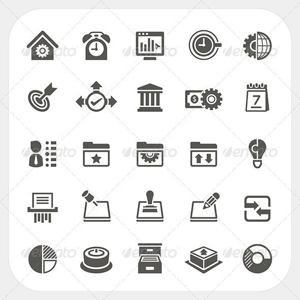 Business and Office Icons Set - Business Conceptual