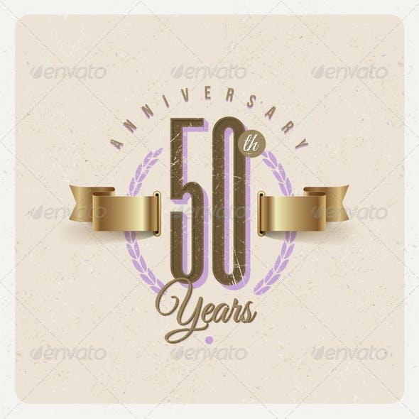 Vintage Anniversary Type Emblem