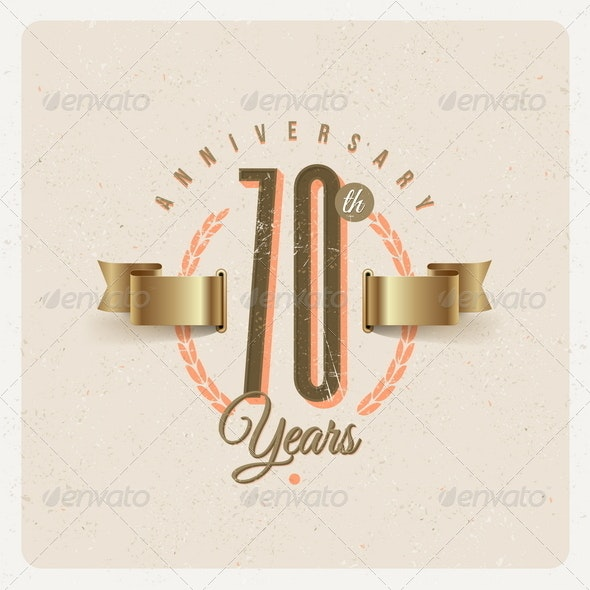 Vintage Anniversary Type Emblem - Decorative Vectors