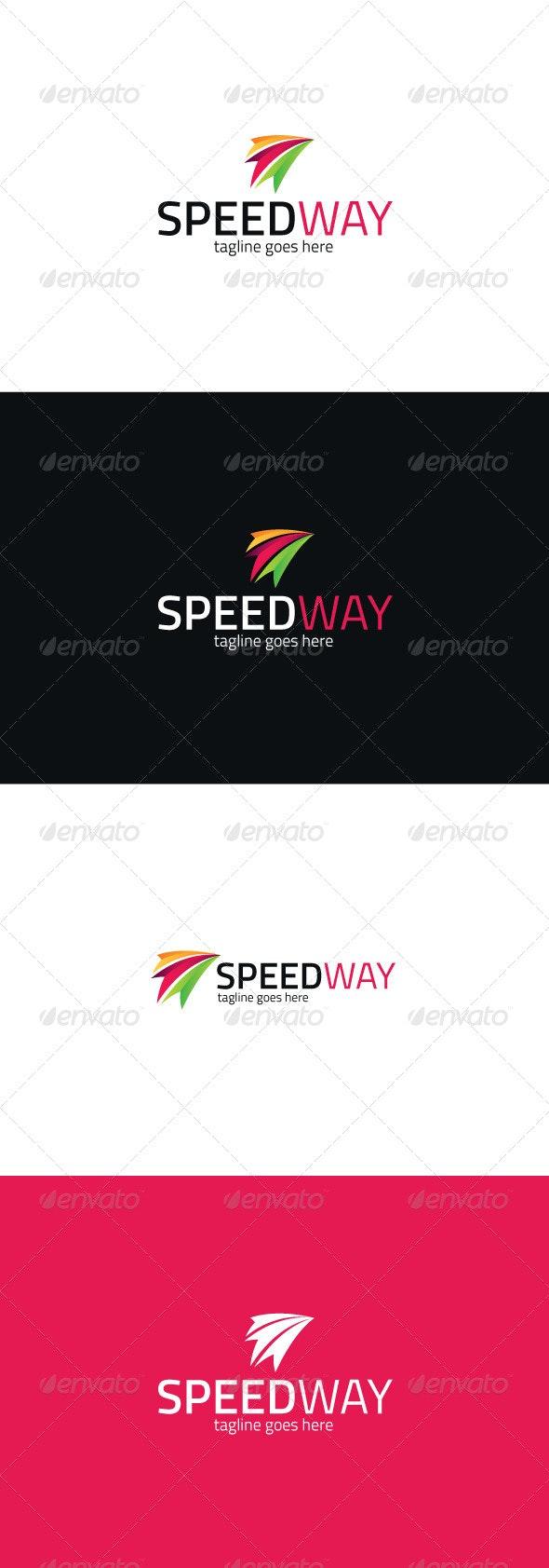 Speed Way Logo - Vector Abstract