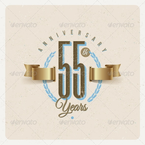 Vintage Anniversary Type Emblem - Decorative Vectors