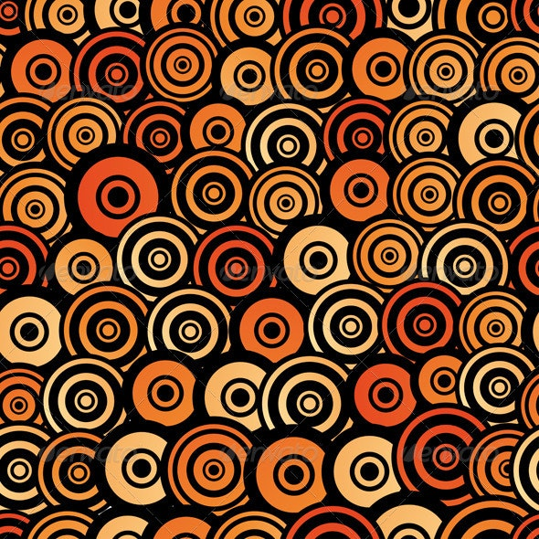 Retro Style Seamless Circle Pattern - Backgrounds Decorative