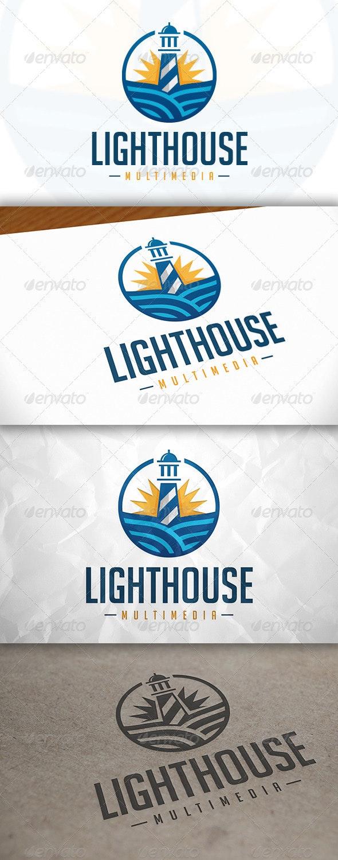 Lighthouse Media Logo - Buildings Logo Templates