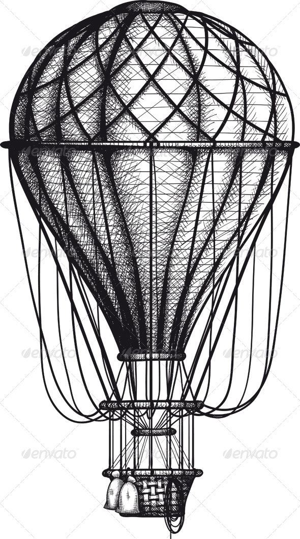 Old Air Ballon - Man-made Objects Objects