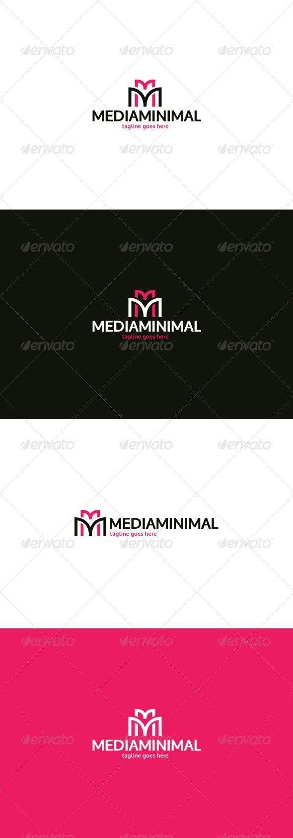 Media Minimal Logo — Letter M - Letters Logo Templates