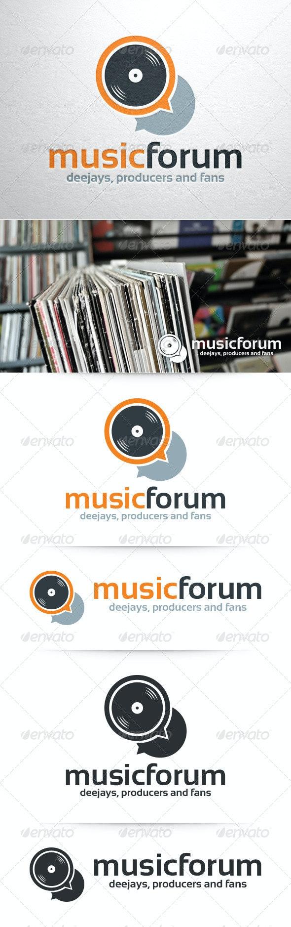 Music Forum Logo Template - Objects Logo Templates