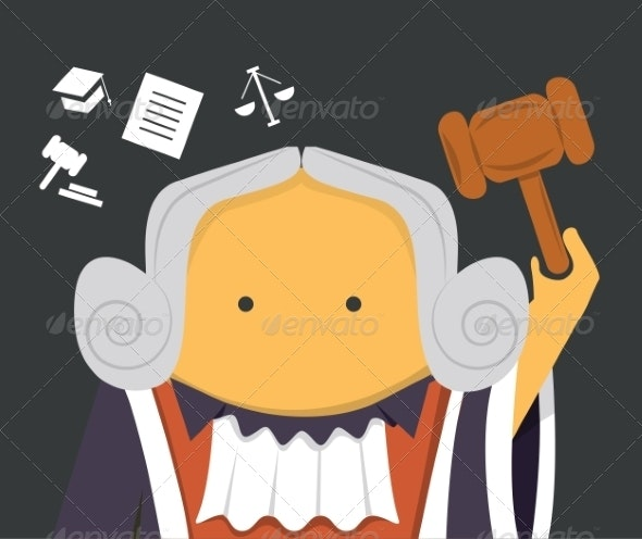 Judge with a Hammer - People Characters