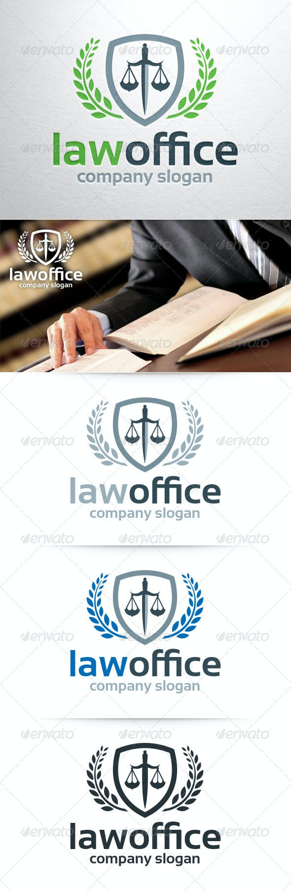 Law Office Logo Template - Crests Logo Templates