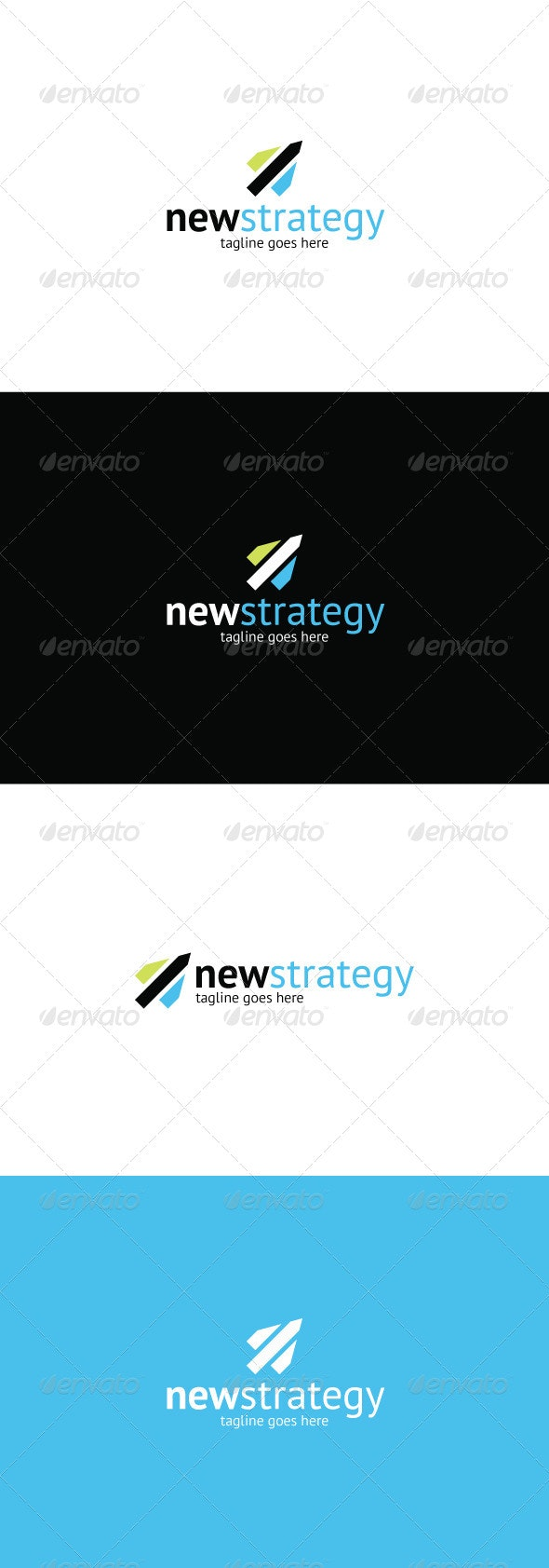 New Strategy Logo - Vector Abstract
