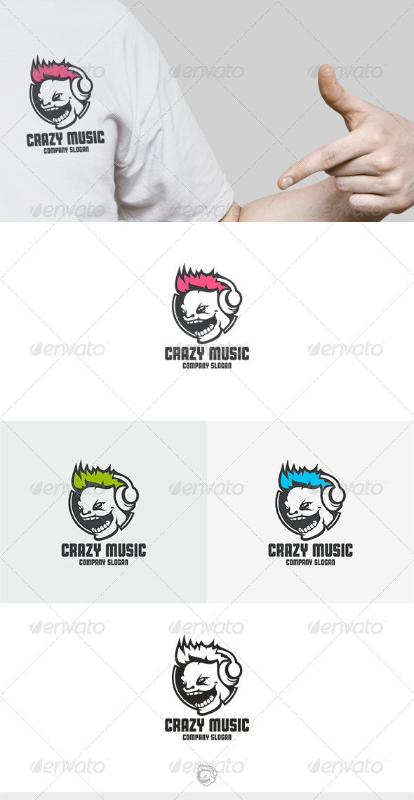 Crazy Music Logo - Abstract Logo Templates