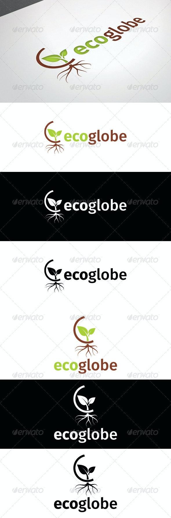 Eco Globe Logo Template - Nature Logo Templates