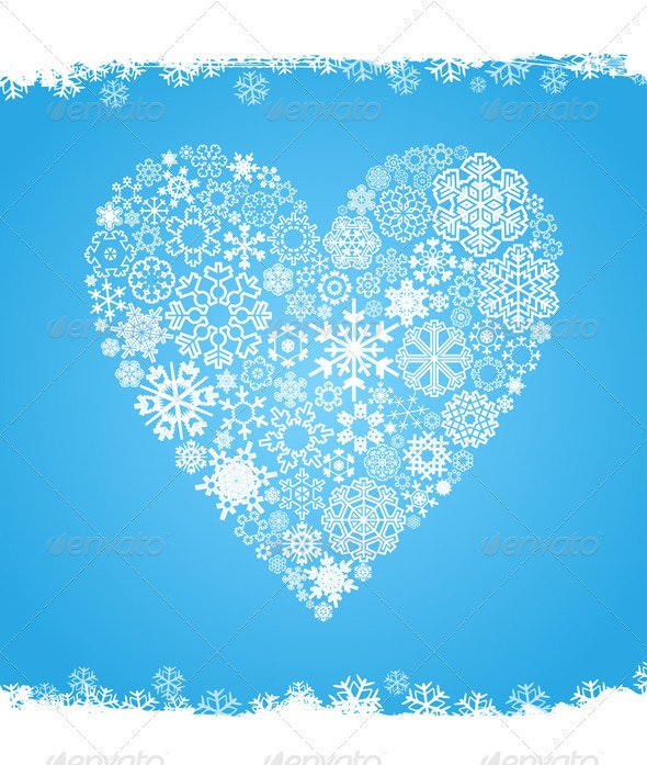 Snow Heart - Valentines Seasons/Holidays
