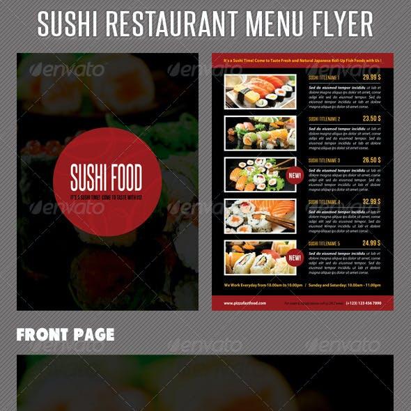 Sushi Restaurant Menu Flyer V02