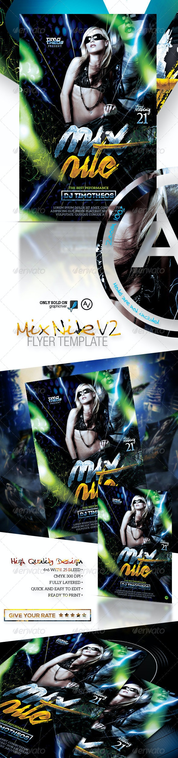 Mix Nite Flyer Template V2 - Clubs & Parties Events
