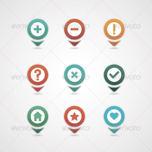 Mapping Pins Icon - Web Icons