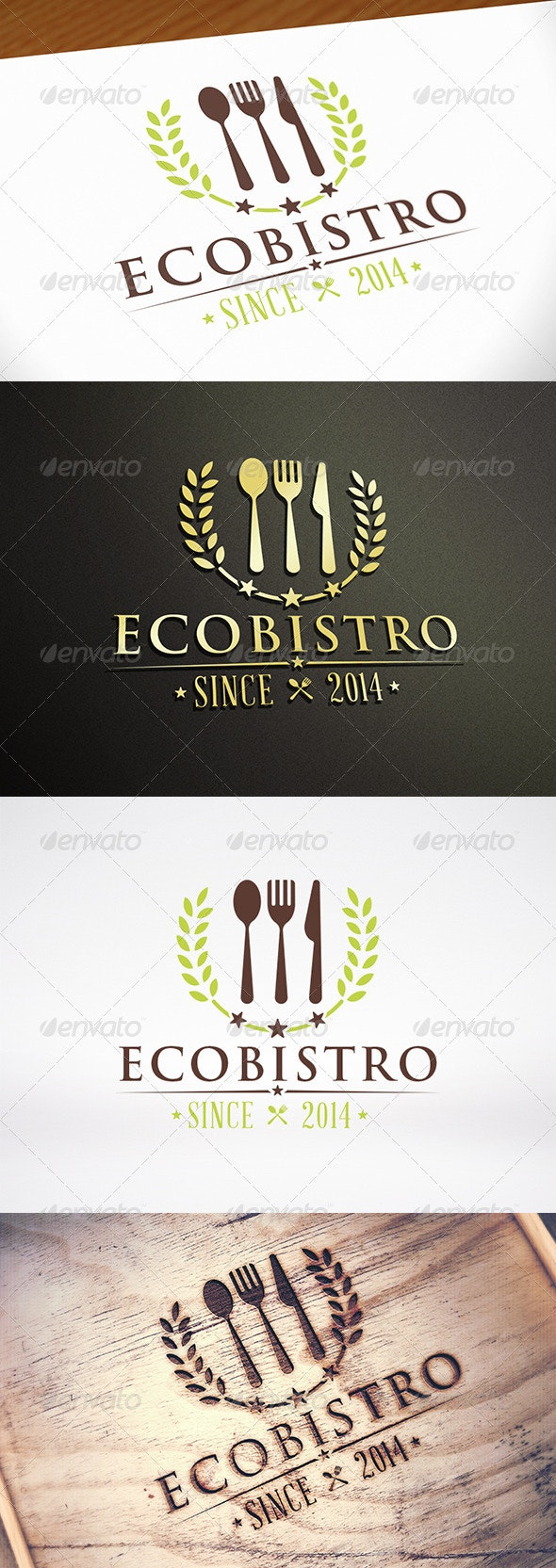 Natural Restaurant Logo Template - Restaurant Logo Templates