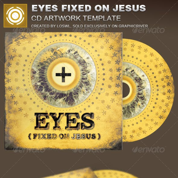 Eyes Fixed on Jesus CD Artwork Template