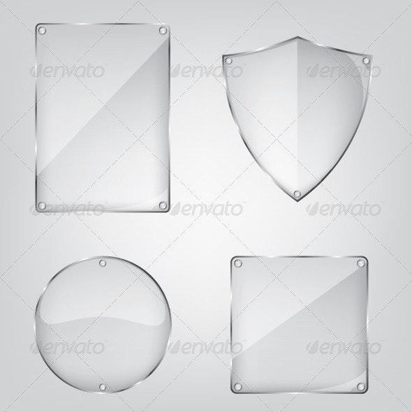 Glass Frame Collection - Web Elements Vectors