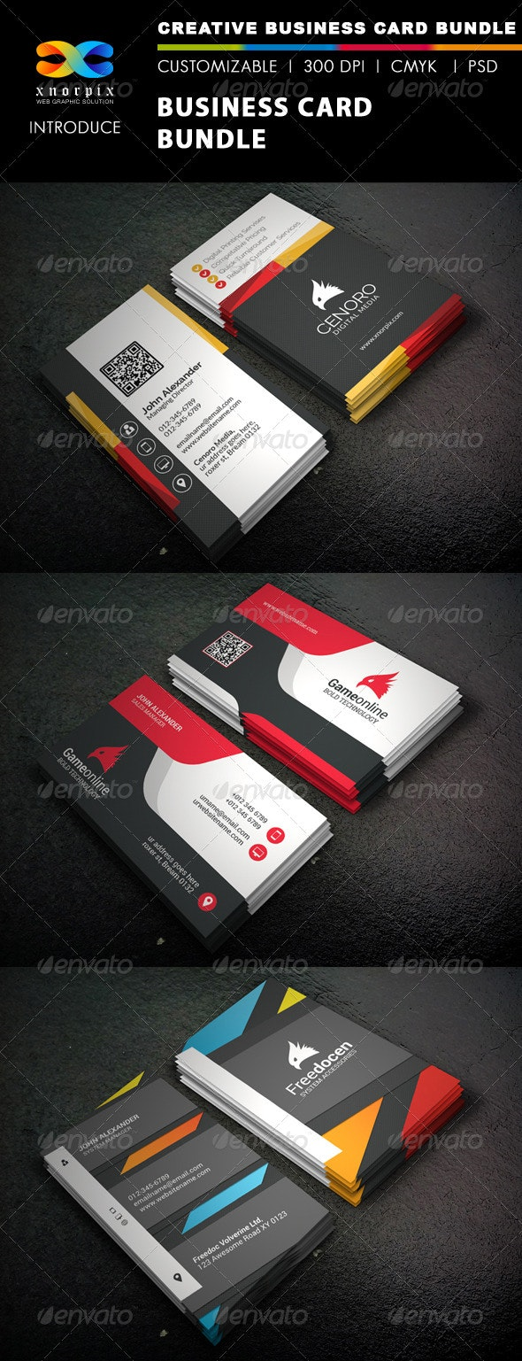 Business Card Bundle 3 in 1-Vol 39 - Corporate Business Cards