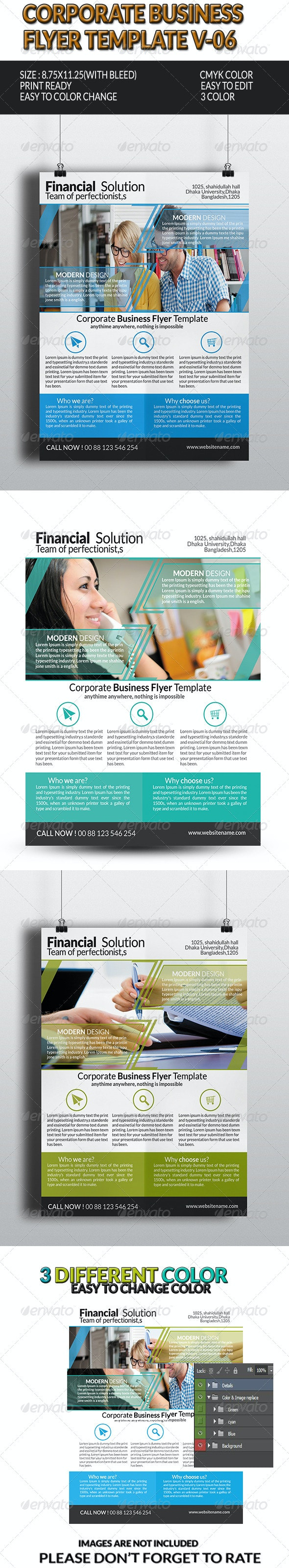 Corporate Business Flyer Template V-6 - Corporate Flyers