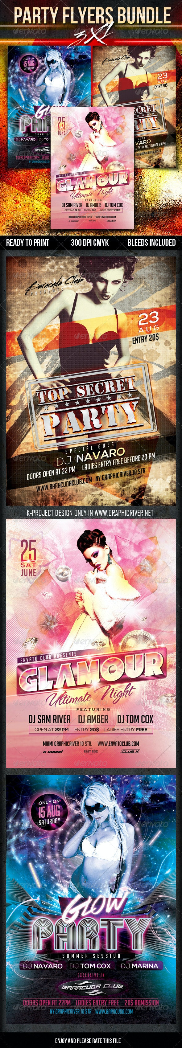Party Flyer Bundle - Clubs & Parties Events