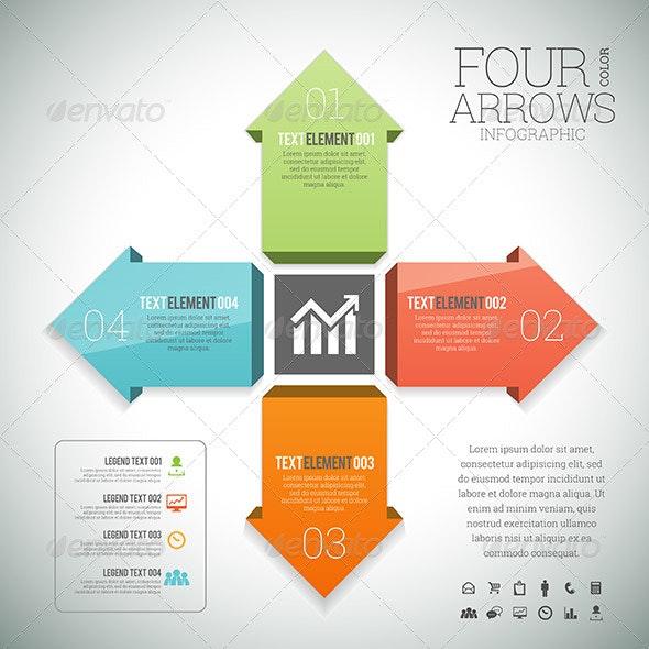 Four Color Arrows Infographic - Infographics