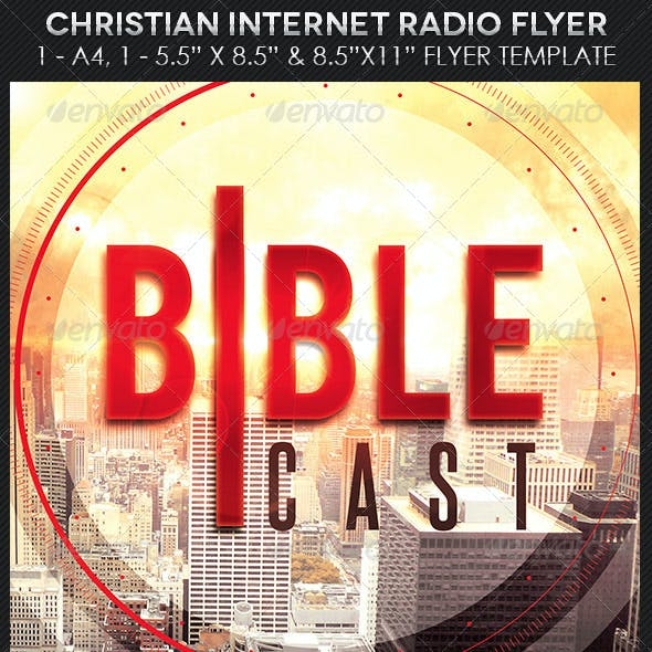 Christian Internet Radio Flyer Photoshop Template