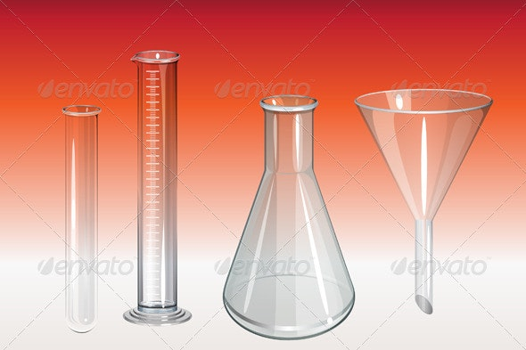 Chemistry Lab Apparatus - Illustration - Man-made Objects Objects