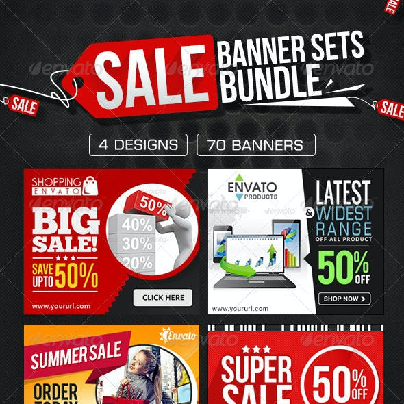 Product Sale Banners Bundle - 4 Sets