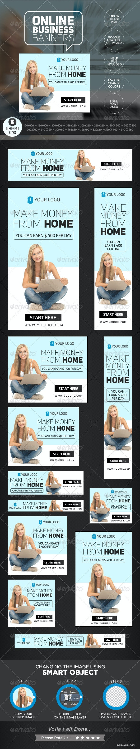 Online Business Banners - Banners & Ads Web Elements