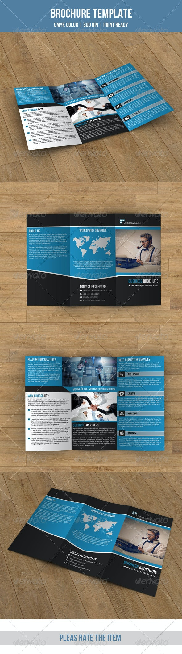Business Trifold-V40 - Corporate Brochures