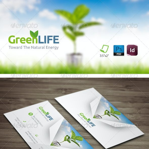 Green Energy Business Card Templates