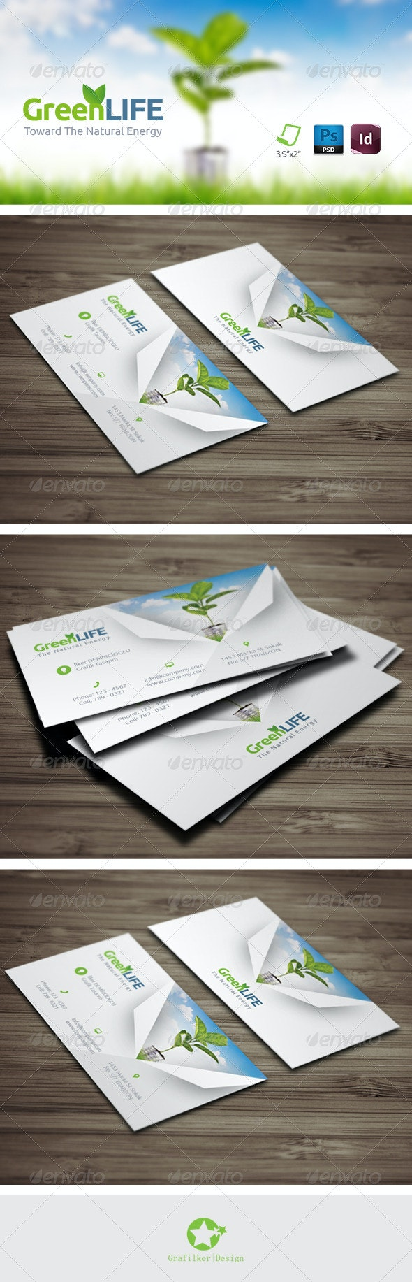 Green Energy Business Card Templates - Corporate Business Cards