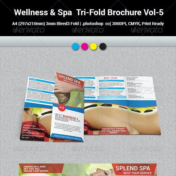 Wellness & Spa  Tri-Fold Brochure Vol-5