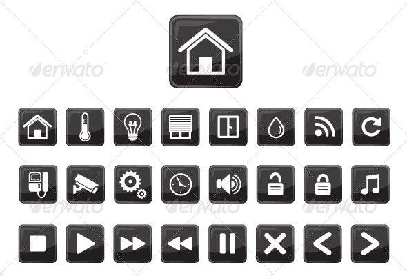 Home Automation Smart Home Icon Set - Technology Conceptual