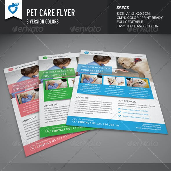 Pet Care Flyer
