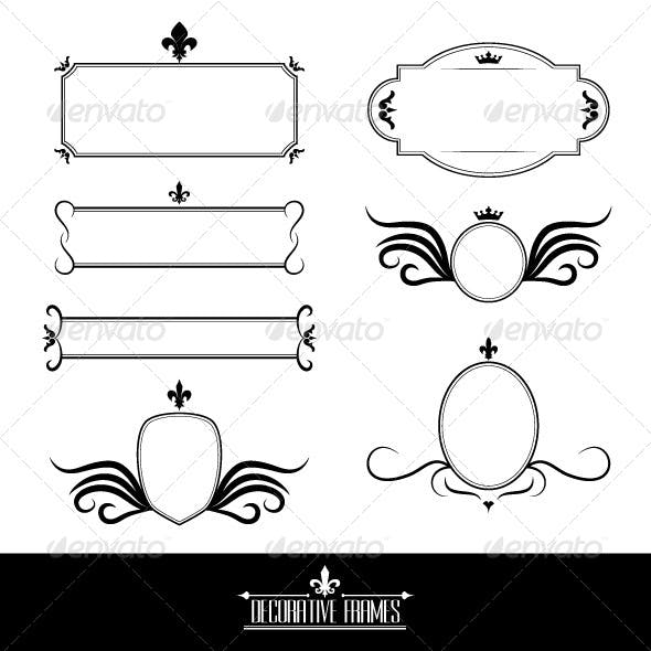 Set of Decorative Frames and Borders