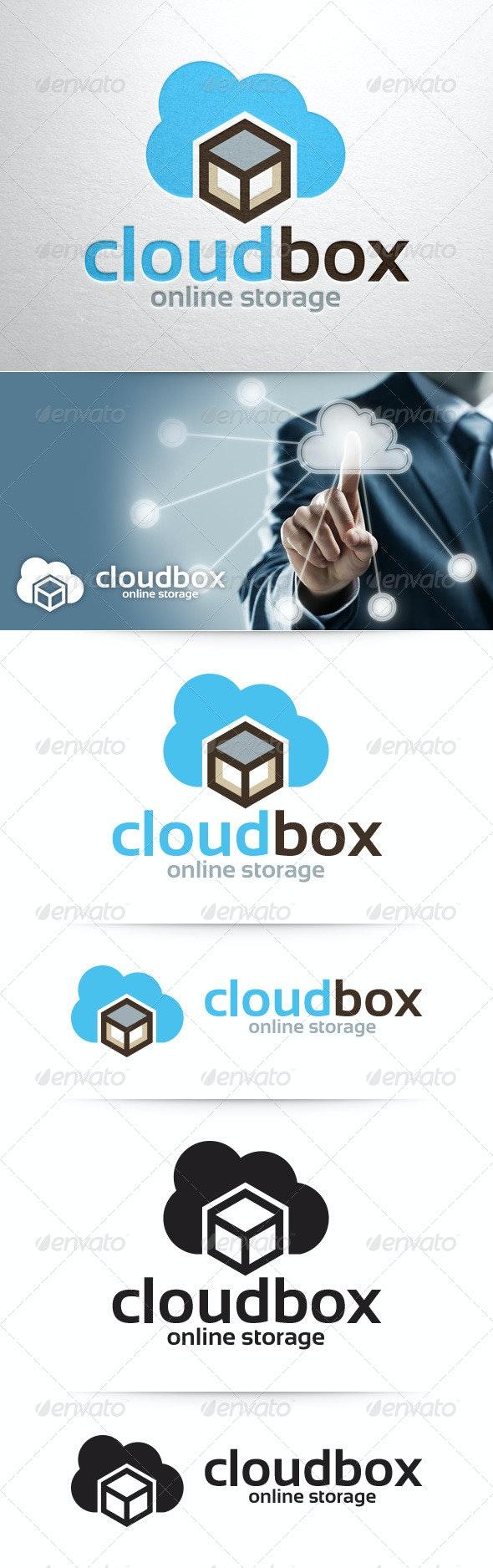 Cloud Box Logo Template - Symbols Logo Templates
