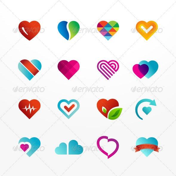 Heart Symbol Icon Set - Decorative Symbols Decorative