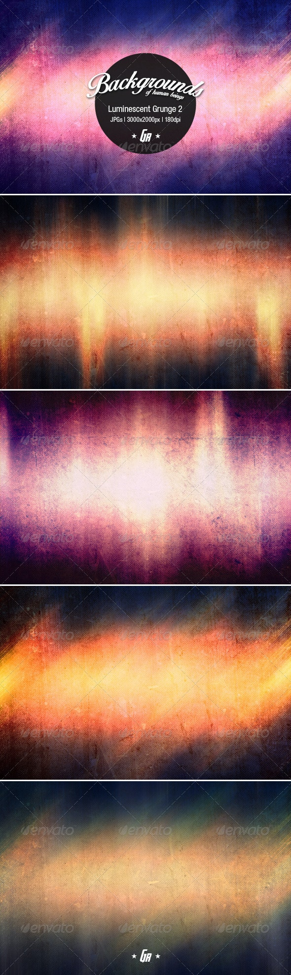Luminescent Grunge Backgrounds 2 - Abstract Backgrounds