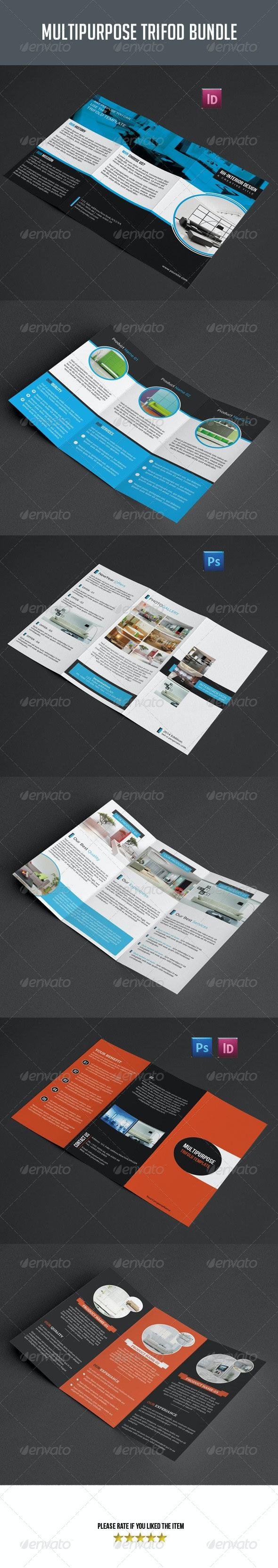 3 in 1 Multipurpose Trifold Brochure Bundle - Corporate Brochures