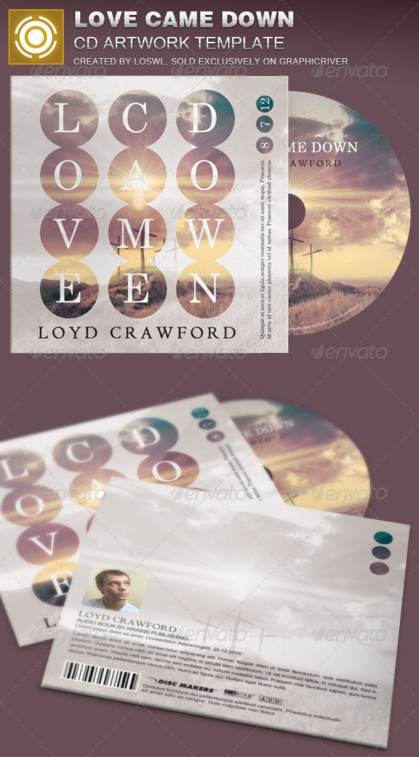 Love Came Down CD Artwork Template - CD & DVD Artwork Print Templates