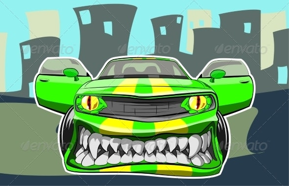 Angry Car - Sports/Activity Conceptual